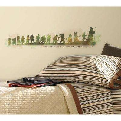 9 in. x 40 in. The Hobbit Quote Peel and Stick Wall Decals