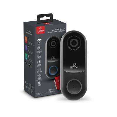Wi-Fi Hardwired Smart Video Doorbell Push Button with IP54 Rating, 1080p, Motion Detection, 2-Way Voice, Night Vision