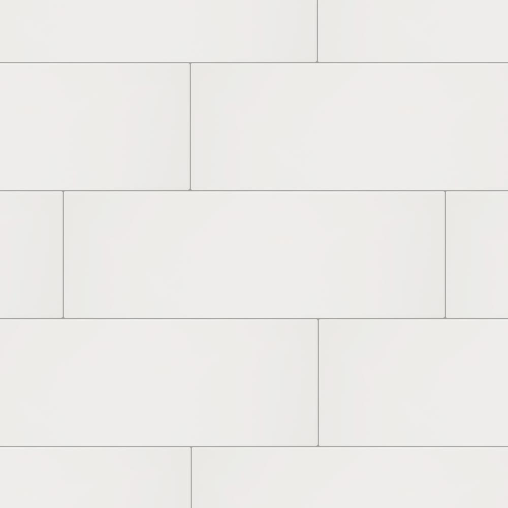Restore Bright White 8 in. x 24 in. Ceramic Wall Tile (13.3 sq. ft. / Case)