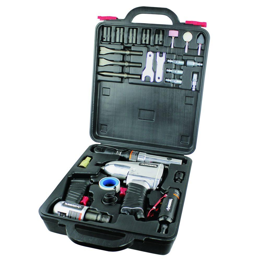 Husky 4-Tool Air Tool Kit