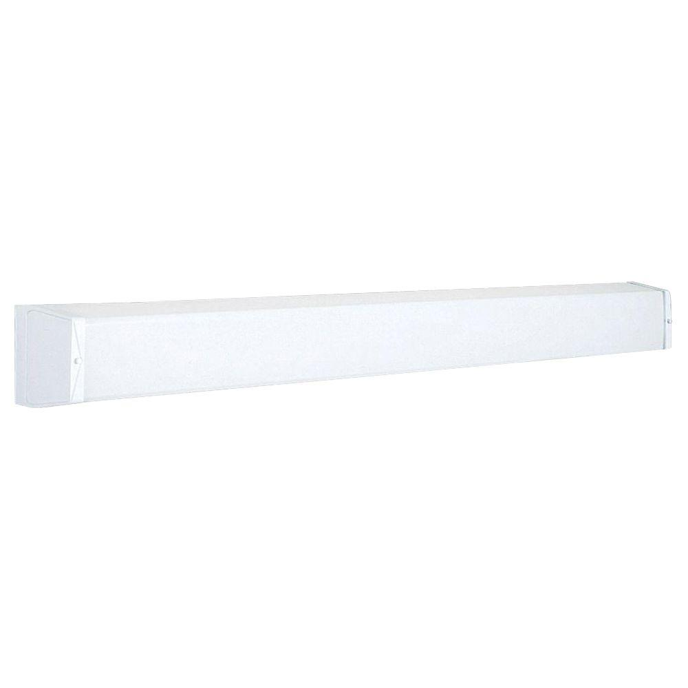 Progress Lighting 2-Light White Fluorescent Vanity Light