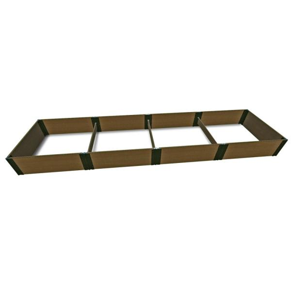 4 ft. x 16 ft. x 16.5 in., 1 in. Profile Uptown Brown Composite Tool-Free Raised Garden