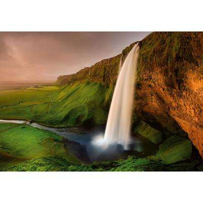 Waterfall In Iceland Wall Mural