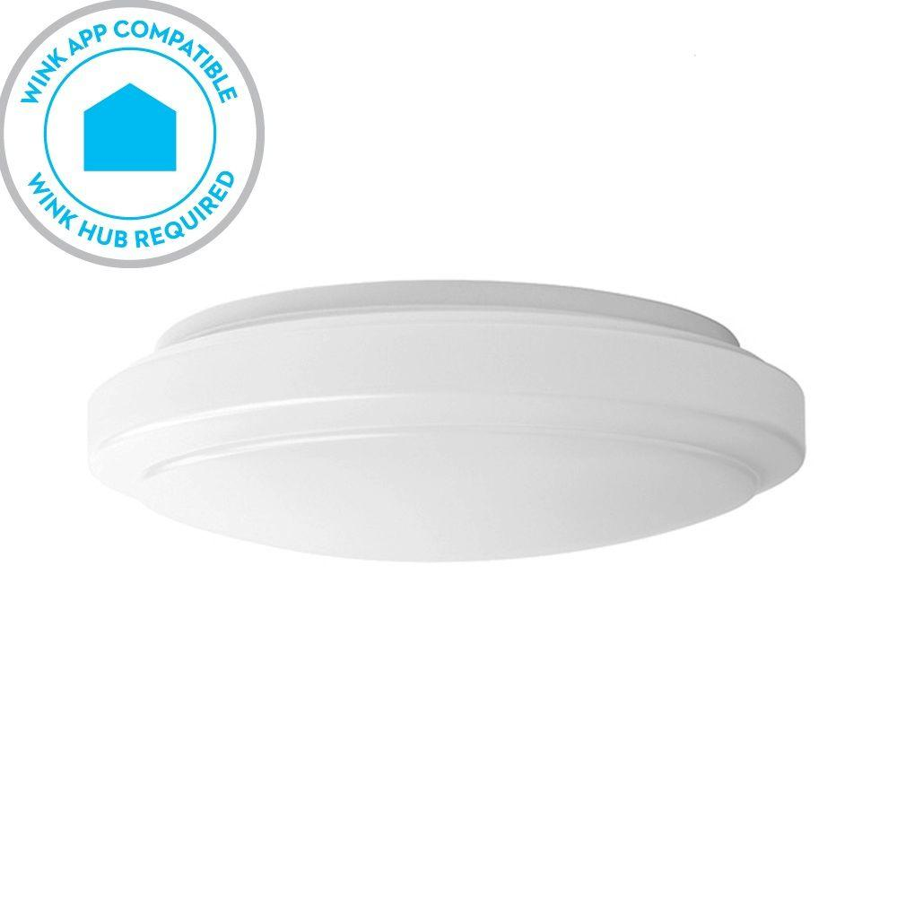 Led Ceiling Lights Daylight : Hampton bay wink compatible in white led smart color