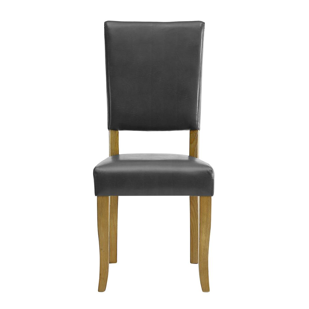 Walker Edison Furniture Company Open Back Charcoal Parsons Dining Chair  (Set Of 2)