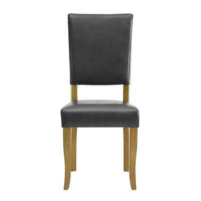 Open-Back Charcoal Parsons Dining Chair (Set of 2)