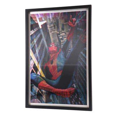 "28 in. x 19 in. ""Spider-Man"" by Alex Ross Printed Framed Lenticular Wall Art"