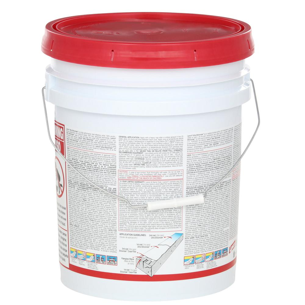 Roof Sealer 5 Gal Ultra Siliconizer Surface Membrane