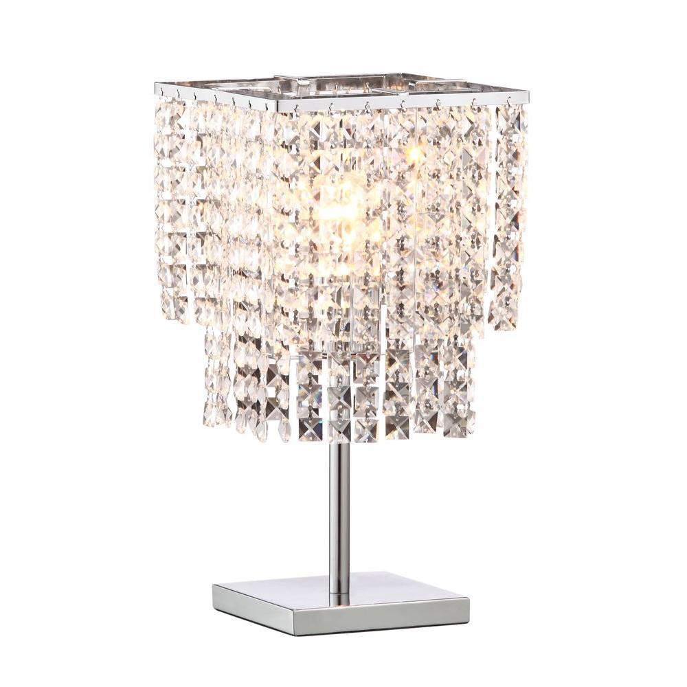 Falling Stars 16.1 in. Chrome Table Lamp