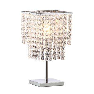 Falling Stars 16.1 in. Chrome Table Lamp