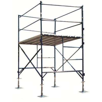 6 ft. x 7 ft. x 5 ft. 1-Story Commercial Grade Scaffold Tower 2,000 lb. Load Capacity with Guardrail and Base Plates