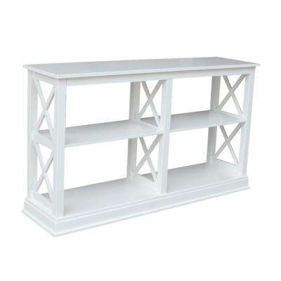 Hampton Pure White 60 in. W Console Table