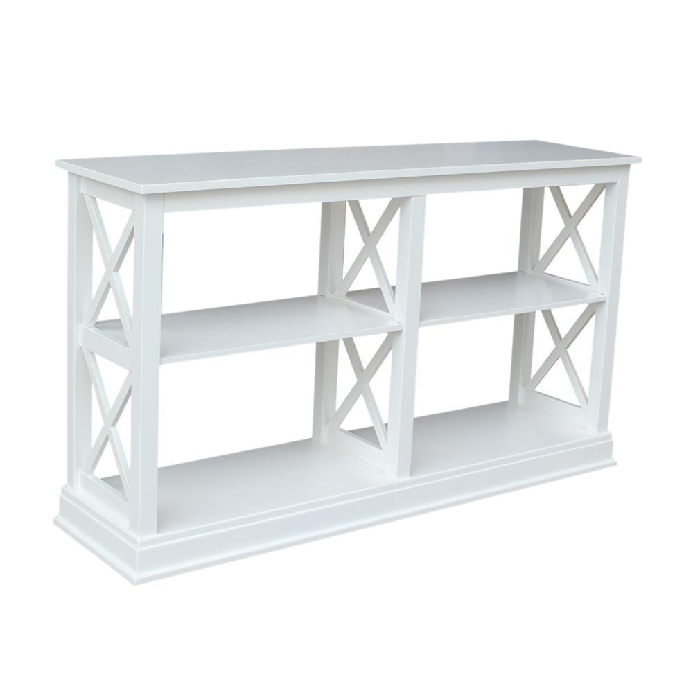 International Concepts Hampton Pure White 60 in. W Console Table ...