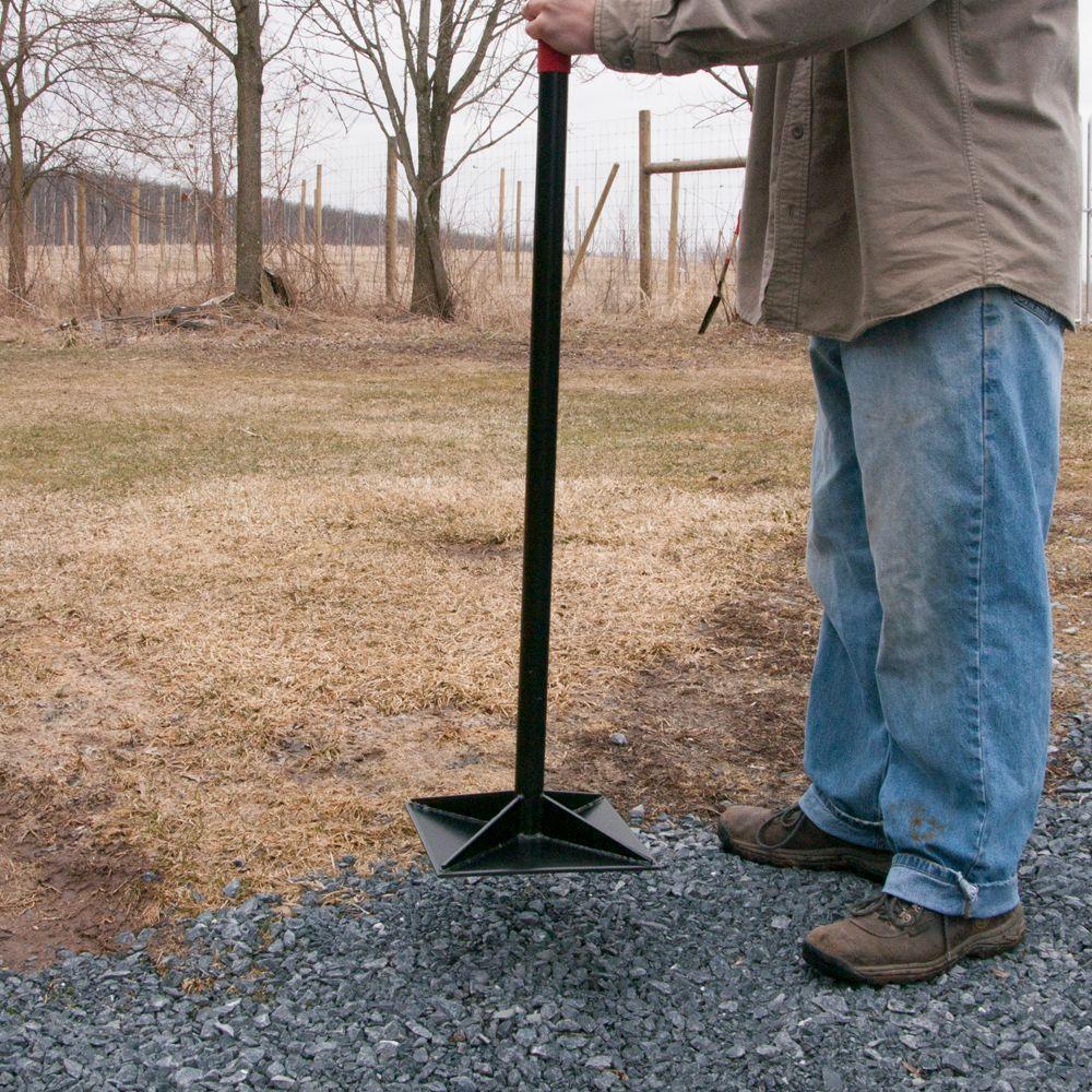 Asphalt Gravel Steel Tamper Ideal for Packing and Leveling Soil Stone /& Dirt