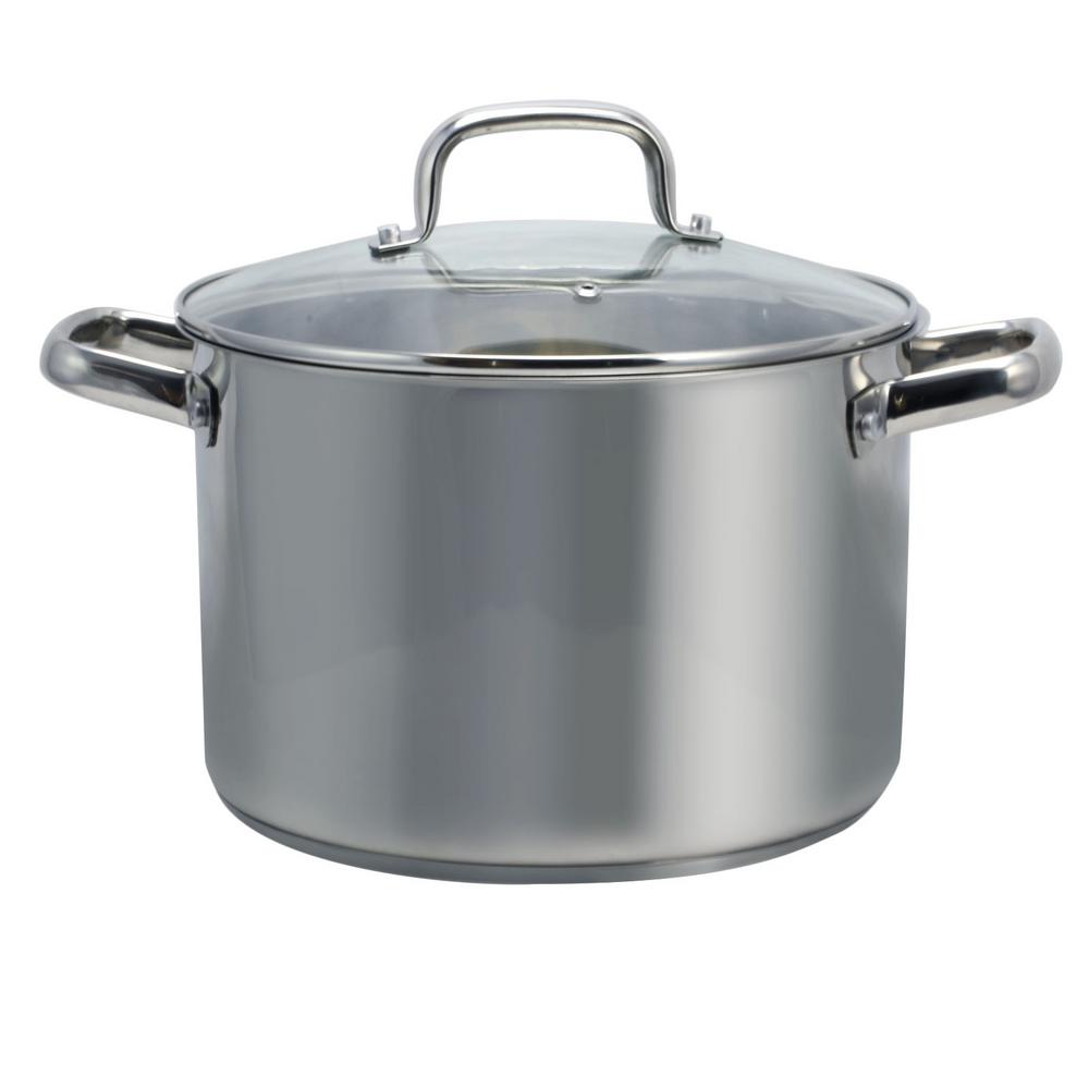 Adenmore 8 Qt. Stock Pot with Tempered Glass Lid