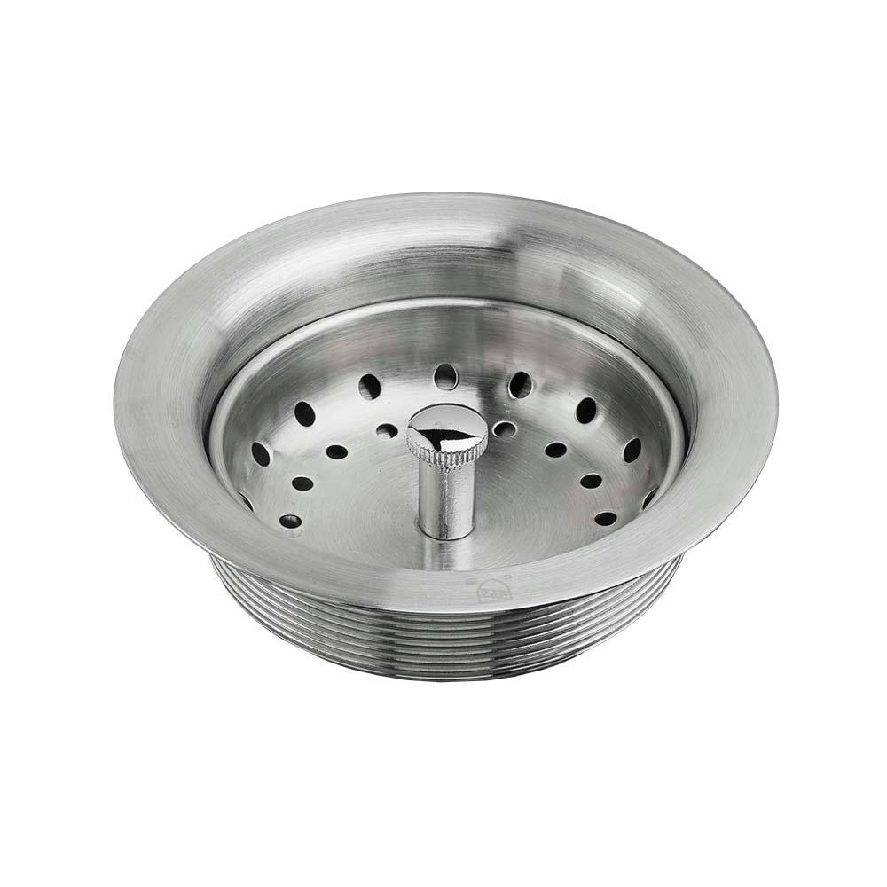 Kitchen Sink Drain with Strainer in Stainless Steel