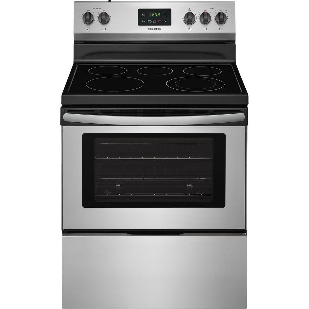 stainless steel frigidaire single oven electric ranges ffef3052ts 64_1000 frigidaire 4 9 cu ft electric range in stainless steel ffef3052ts