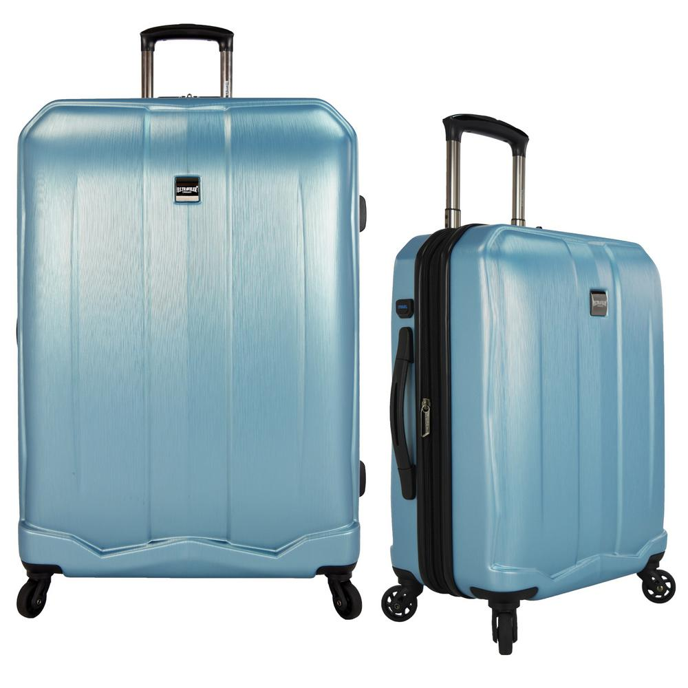 US Traveler Piazza 2-Piece Smart Spinner Luggage Set, Tea...