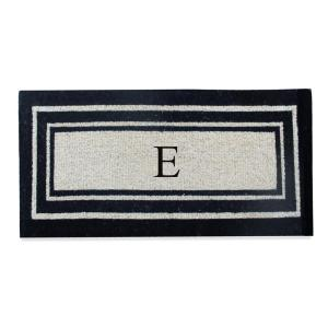 Click here to buy  A1HC First Impression Black Classic Border 24 inch x 57 inch Coir Monogrammed E Door Mat.