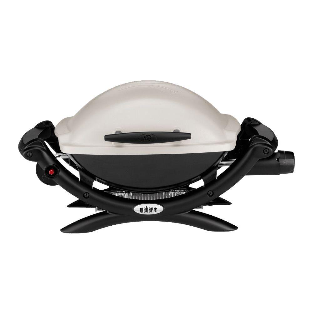 Weber Q 1000 1-Burner Portable Propane Gas Grill in Titanium