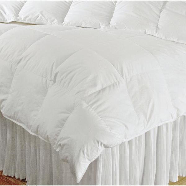 A1 Home Collections Lightweight 400GSM Fill Weight 233TC Organic Cotton Cover 8 Corner Tabs Baffle Box Construction Duvet Insert or Stand Alone Comforter White Full//Queen