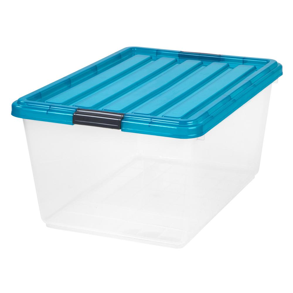 44 Qt. Buckle Down Storage Box in Blue