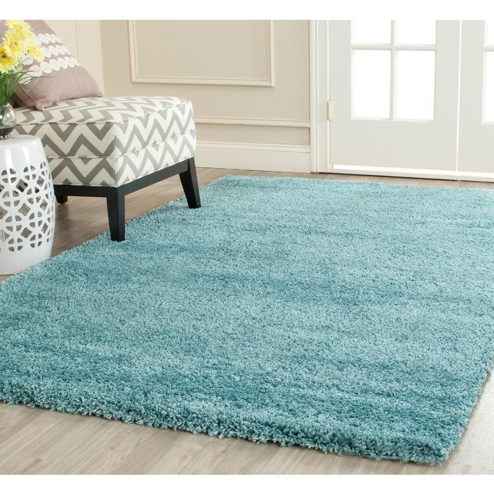 safavieh milan shag aqua blue 3 ft. x 5 ft. area rug-sg180-6060-3