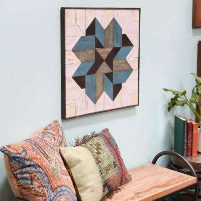"23.75 in. x 24.75 in. ""Mosaic Lemoyne Star"" Printed Wall Art"