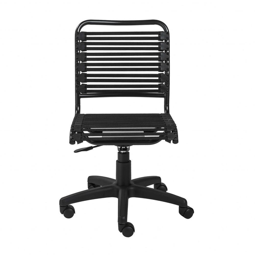 Amelia Black Low Back Office/Desk Chair