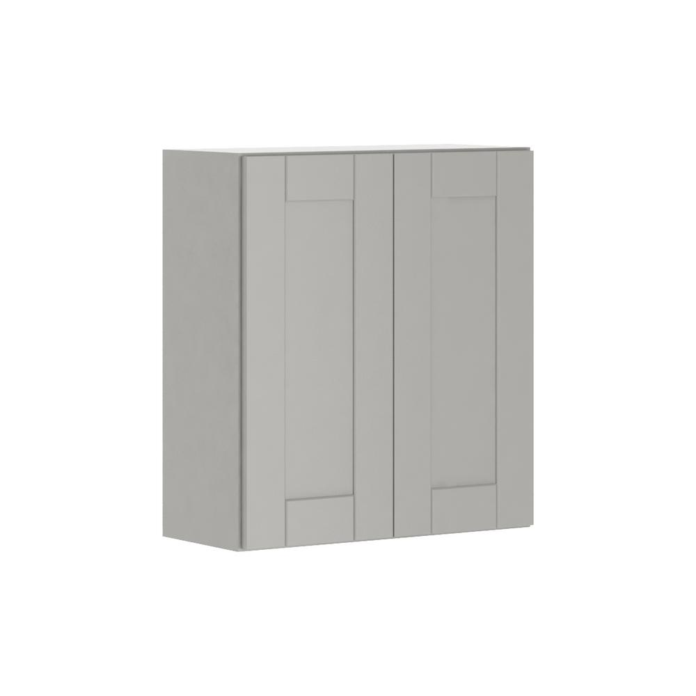 Hampton Bay Princeton Shaker Assembled 27x30x12 in. Wall Cabinet in ...