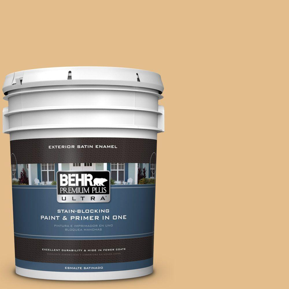 BEHR Premium Plus Ultra 5-gal. #330D-4 Warm Muffin Satin Enamel Exterior Paint
