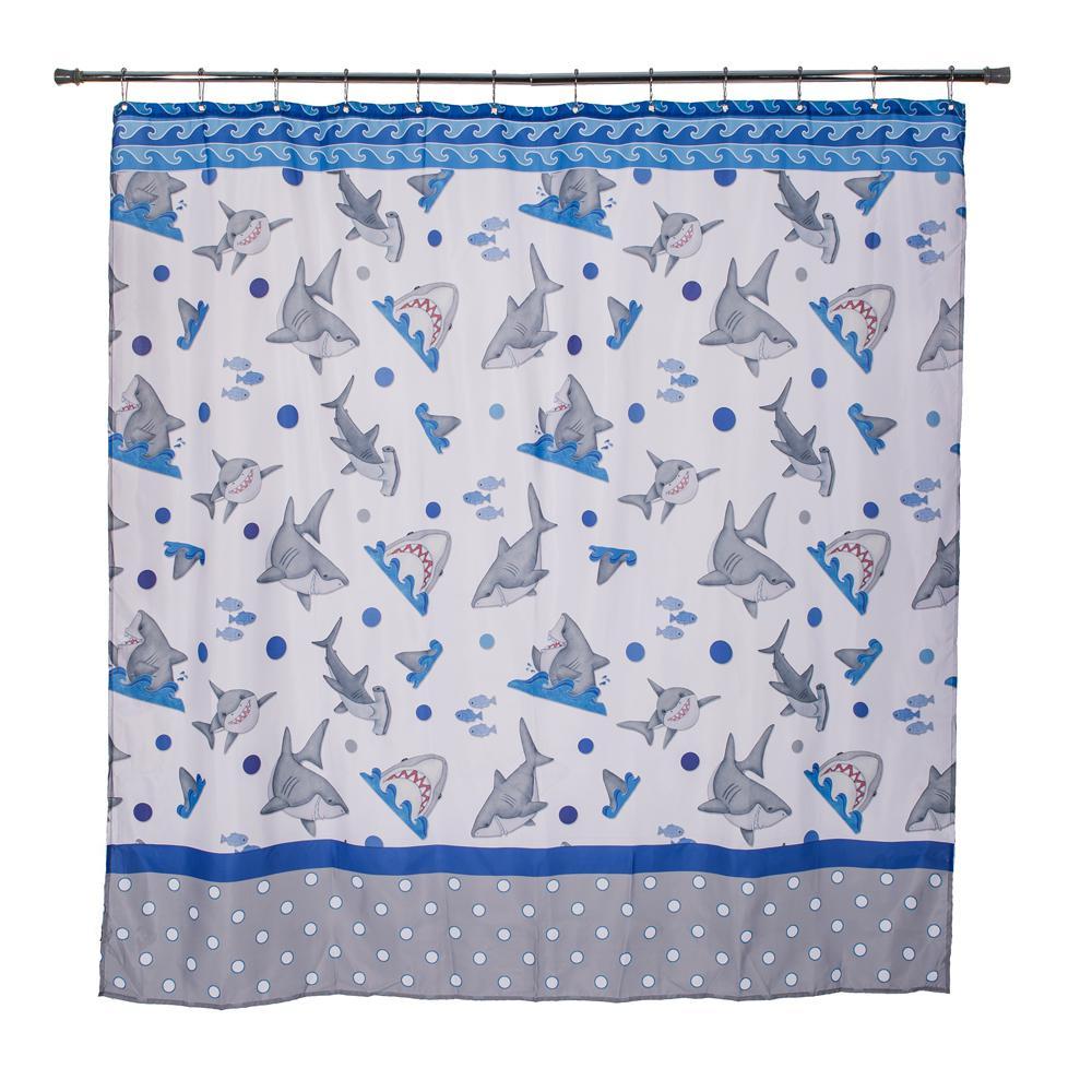 Fish\'n Sharks 72 in. Mini Polka Dot Shower Curtain-70023 - The Home ...