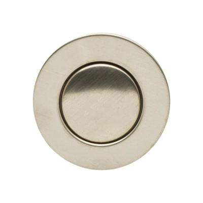1.25 in. Dia Pop-Up Drain for Bathroom Sink/Lavatory, Transparent Body with Overflow in Brushed Nickel, Tailpiece