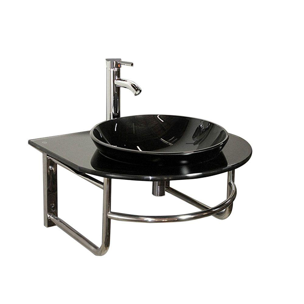 Beautiful Pandu Wall Mounted Bathroom Sink In Black