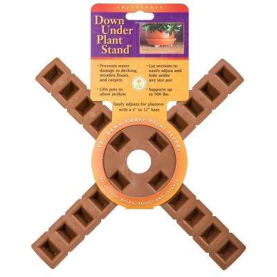 12 in. Terra-Cotta Plastic Down Under Plant Stand