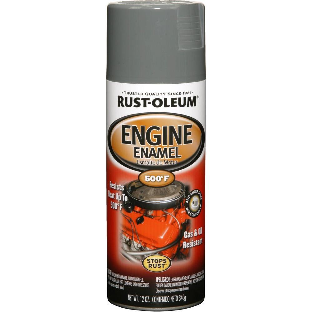 Rust-Oleum Automotive 12 oz. 500 Degree Ford Gray Engine Enamel Spray Paint (Case of 6)