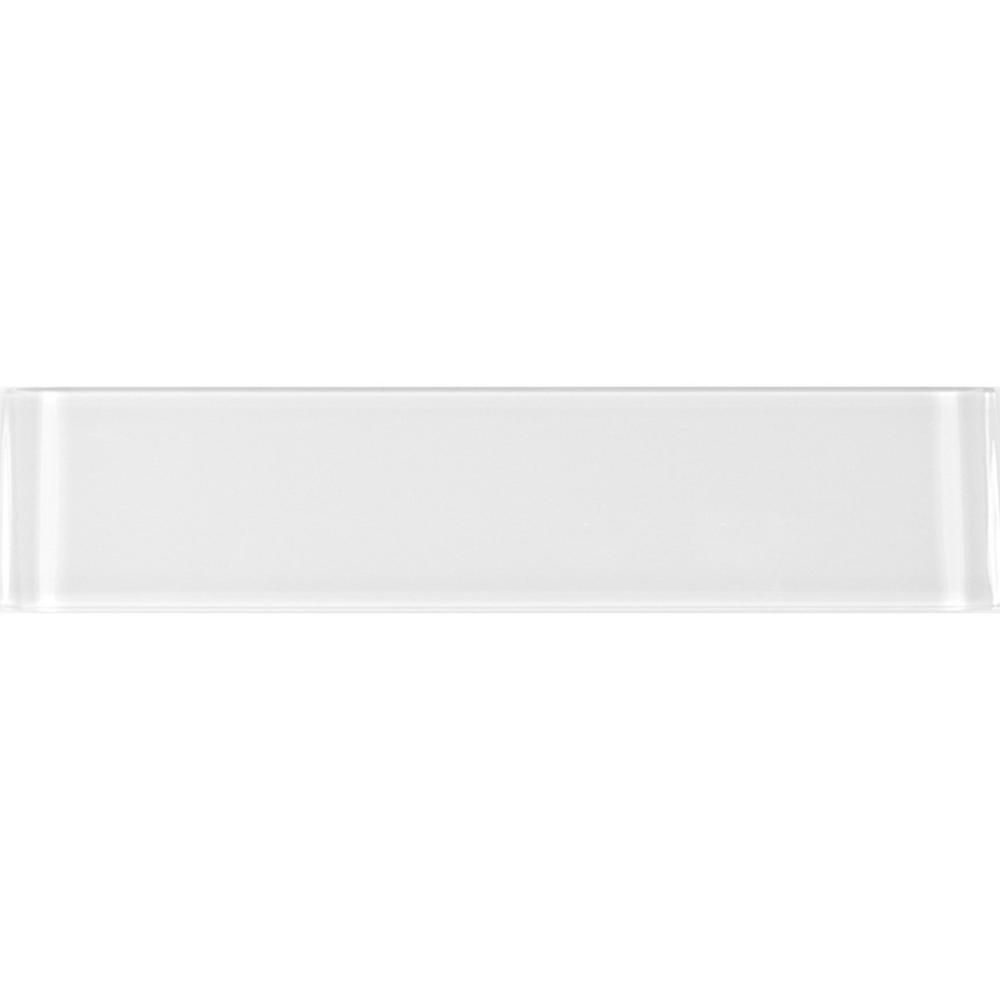 ABOLOS Metro Snow White Subway 3 in. x 12 in. Glossy Glass Wall Tile (4-Pack)