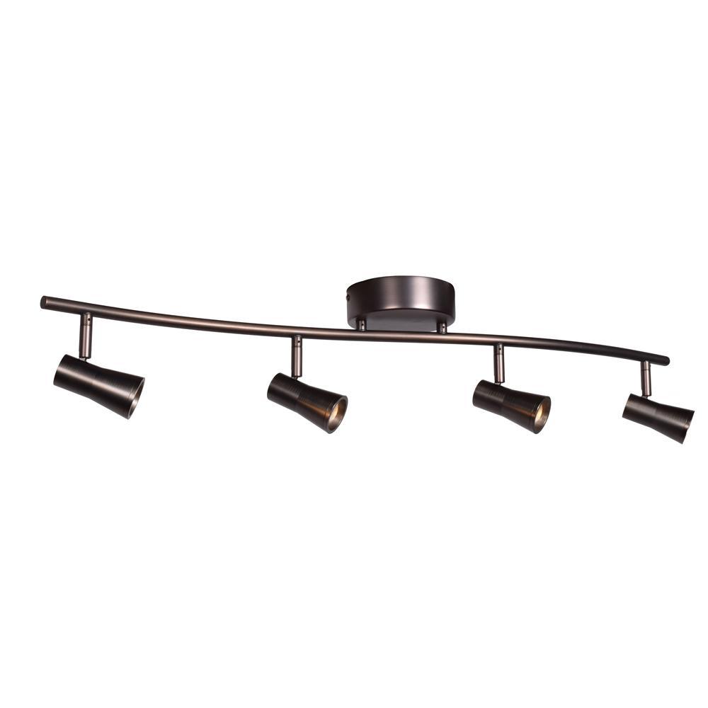 Sleek 7 in. Bronze Integrated LED Semi-Flush Mount