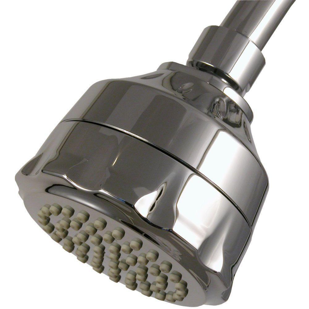 WaterSense Single-Spray Filtered Showerhead in Chrome