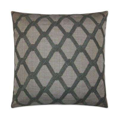 Intertwine Feather Down 24 in. x 24 in. Standard Decorative Throw Pillow