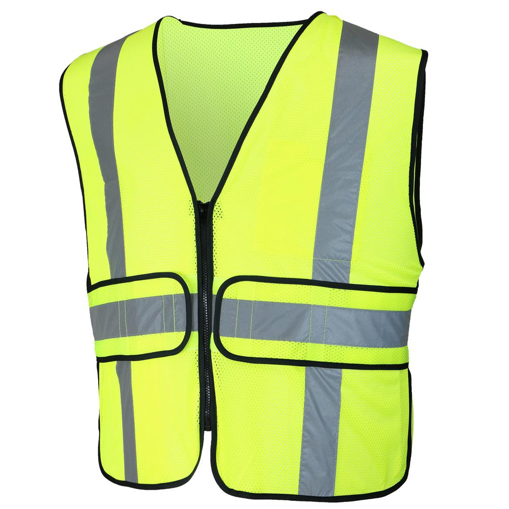 HDX HDX High-Visibility Reflective Adjustable Safety Vest, Adult Unisex, Yellow