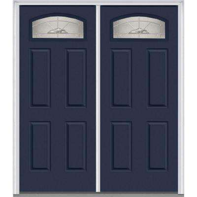 62 in x 8175 in master nouveau decorative glass segmented 14 lite - Exterior Steel Doors