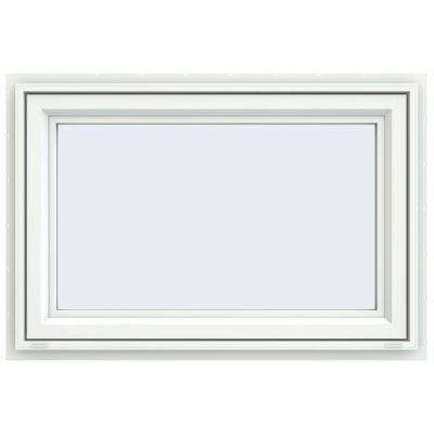 35.5 in. x 23.5 in. V-4500 Series White Vinyl Awning Window with Fiberglass Mesh Screen