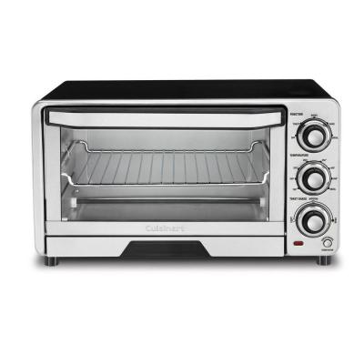Custom Classic 1800 W 6-Slice Stainless Steel Toaster Oven with Recipe Book