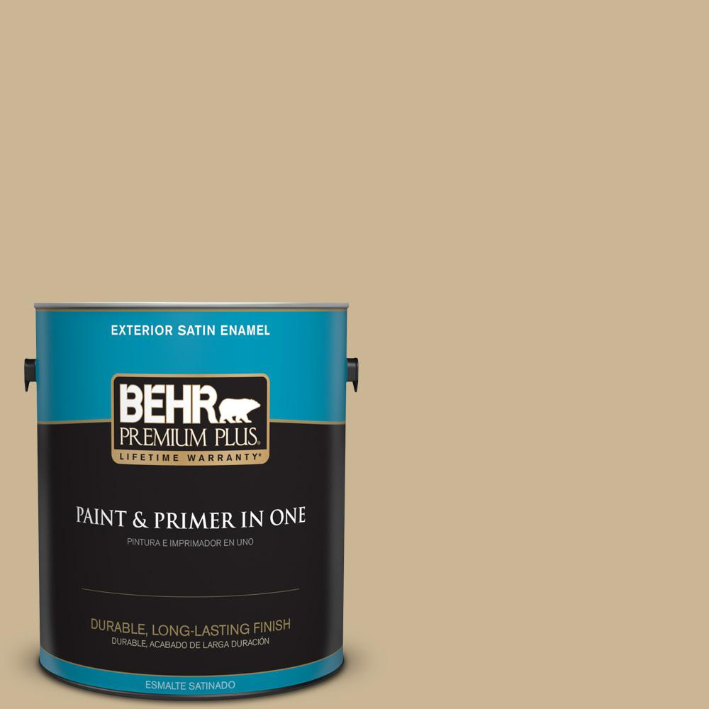 1 gal. #MQ2-30 Spring Wheat Satin Enamel Exterior Paint and Primer