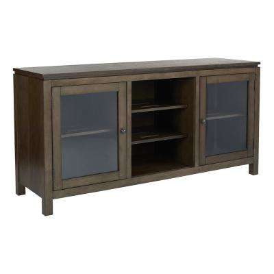 Spokane Folding TV Console in Spice Finish