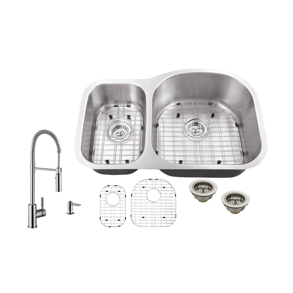 Ipt sink company undermount 32 in 16 gauge stainless for The kitchen sink company