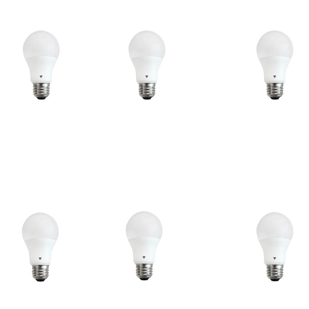 60 Watt Equivalent A19 E26 Base 800 Lumens Led Light Bulb Daylight 6 Pack