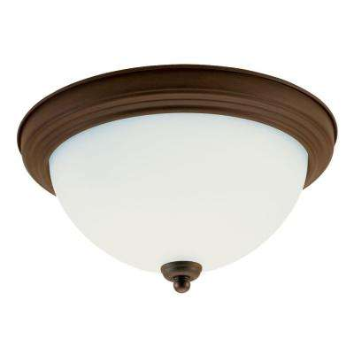 Rialto 2-Light Russet Bronze Flushmount
