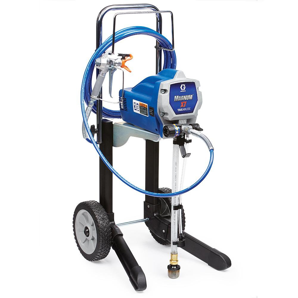 Graco magnum x7 airless paint sprayer 262805 the home depot for Air or airless paint sprayer